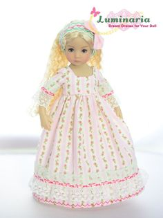 """SOLD """"Gardens of Joy""""Regency Dress,Outfit,Clothes for 13""""Effner Little Darling #ClothingAccessories"""