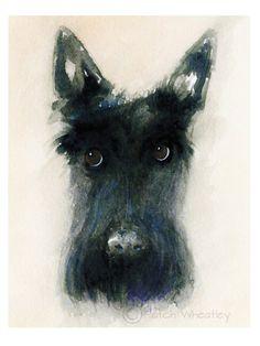 Scottie Dog Art Print by ArchyScottie on Etsy