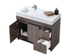 Meuble-lavabo 40'' x 18'' - Vanité 37-42 pouces - Meubles-lavabos vanités - Mobiliers de salle de bain - Salles de bain - Produits - Bain Dépôt
