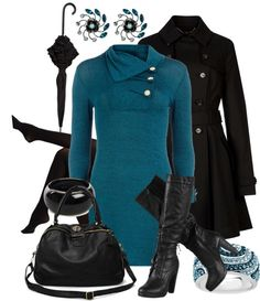 """Rainy Vancouver Workday"" by amo-iste ❤ liked on Polyvore"