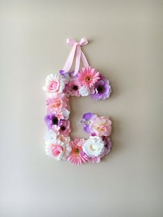 Personalized nursery, Nursery wall letters, Flower Letters, Floral Letters / Baby shower gift, Photography Prop, Door hanger