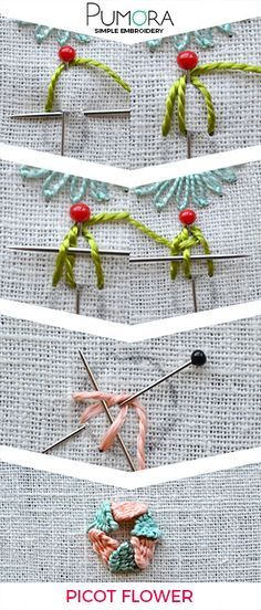 Flower embroidery day 3: Going 3D