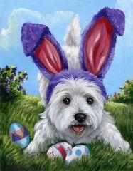 West Highland Terrier Egg Hunt