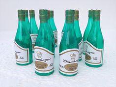 24 Miniature Plastic Champagne Bottles by DelroCraftSupplies, $14.00