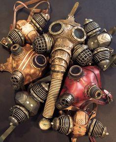Steampunk Gas Masks by ~TomBanwell