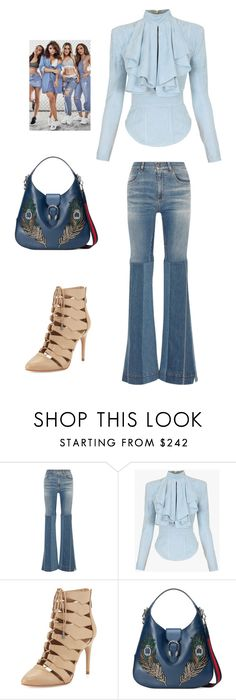 """Untitled #3902"" by carlafashion-246 ❤ liked on Polyvore featuring Roberto Cavalli, Balmain, BCBGMAXAZRIA and Gucci"