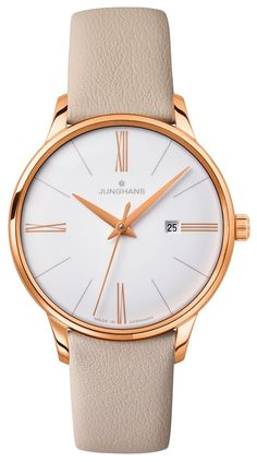 Junghans Meister Ladies White Dial Date 047/7570.00