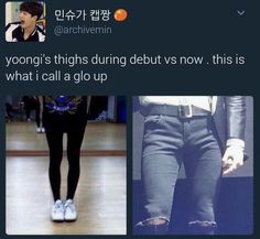 Boy says he's not working out, you don't get no thighs like this without workout
