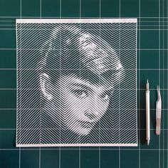 Armed with a scalpel, tweezers and a large sheet of paper, Korean artist Yoo Hyun hand-carves intricate portraits of celebrities past and present. Illusion Art, Korean Artist, Portrait Inspiration, Portraits, Paper Cutting, Cut Paper, Line Art, Paper Art, Paper Crafts