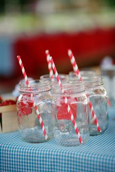 cheerful striped paper straws | Anna Hedges
