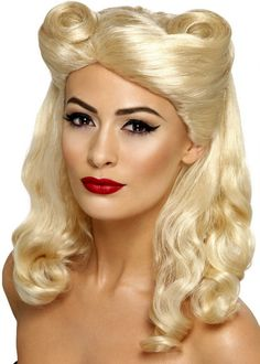 Women's 1940's Blonde Pin Up Girl Wig - New Costumes for Halloween 2015