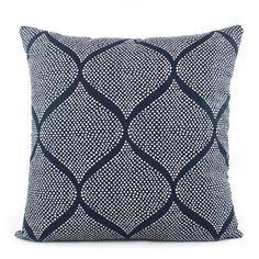 a906909fd1ac Robert Allen Mocambo Indigo and White Throw Pillow - Chloe & Olive  Accent Pillows,