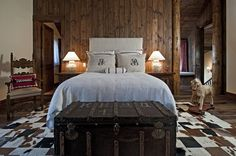 rustic cabin interiors | Rustic Bedroom by Bulhon Design Associates