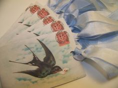 Bird Tags - French - Set of 6