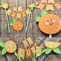 Lil Cutie Orange Cake Bunting Topper & Kawaii Orange Cake Topper Pc Set) Citrus Theme Birthday Party - Orange Lime Green - Finance tips, saving money, budgeting planner 1st Birthday Parties, 2nd Birthday, Birthday Bunting, Birthday Decorations, Birthday Ideas, Orange Craft, Cake Bunting, Orange Party, Baby Sprinkle