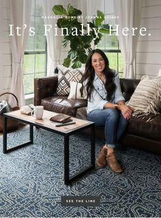 It's here!  See the Joanna Gaines/ Magnolia Home Collection from loloi Rugs!  #JoannaGainesxLoloi