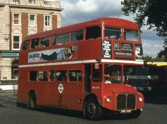 https://flic.kr/p/aNJgd4 | London Transport . RML2709 SMK709F . High Road , Tottenham , London . 24th-September-1980 . | AEC Routemaster  -  Park Royal  H72R.  Catching the early autumn afternoon sunshine a long Routemaster , RML2709 from Stamford Hill ( SF ) garage , heads for Holborn Circus on Route 243 .   At the junction of Tottenham High Road , Broad Lane  and West Green Road , by Seven Sisters Underground Station .   24th-September-1980 .