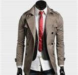 Korean Fashion Slim Double-Breasted Composite cotton Jacket For Men Latest Mens Fashion, Korean Fashion, Men's Fashion, Indian Fashion, Winter Fashion, Designer Trench Coats, Slim Fit Jackets, Raincoats For Women, Double Breasted Jacket