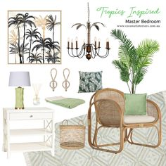 Tropical Master Bedroom, Free Printable Worksheets, Tropical Decor, Inspiration Boards, Mood Boards, Accessories Online, Coconut, Interiors, Shop