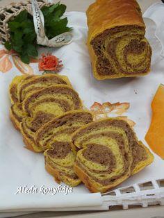 Sütőtökös-kakaós kalács French Toast, Bread, Breakfast, Food, Morning Coffee, Brot, Essen, Baking, Meals