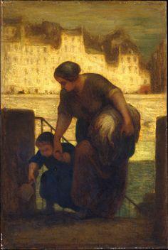 Honoré Daumier   The Laundress   Artist: Honoré Daumier (French, Marseilles 1808–1879 Valmondois) Date: 186[3?]