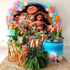 1st Birthday Party Themes, Moana Birthday Party, Luau Birthday, Birthday Ideas, Moana Themed Party, Moana Party, Moana Bebe, Alice, Balloons