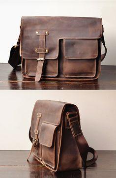 0610374b6d1e Simple Leather Briefcase - Messenger Bag - Leather Laptop - Men s Bag -  leather case-