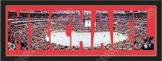 PERSONALIZE YOUR NAME with a framed large Washington Capitals stadium panoramic behind your name, single matted in team colors to 39 x 13.5 inches. $139.99             @ ArtandMore.com