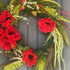 Creating Beauty in the Celebration of Life by CelebrationsDesignCo Forsythia Wreath, Wreath Boxes, Diy Crafts Vintage, Custom Christmas Ornaments, California Poppy, Valentine Wreath, Custom Paint, Floral Arrangements, Floral Wreath