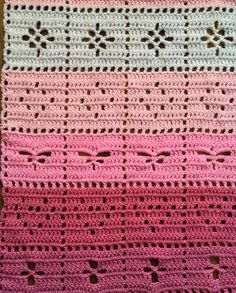 Crochet Afghans, Crochet Stitches Patterns, Baby Blanket Crochet, Crochet Squares, Baby Patterns, Crochet Cross, Filet Crochet, Crochet Motif, Manta Crochet