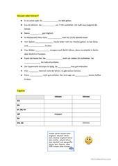 Arbeitsblatt: Lückentext Nomen einsetzen | kostenlose Arbeitsblätter ...