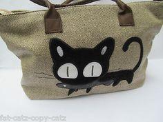 Animated 3D Soft Cat Feline & Fish Fashion Ladies Shoulder Tote Handbag UKSeller 8,67€