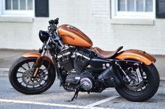 883 Harley, Harley Sportster 883, Harley Davidson Iron 883, Custom Sportster, Custom Choppers, Harley Davidson Motorcycles, Custom Motorcycles, Bobber Bikes, Bobber Motorcycle