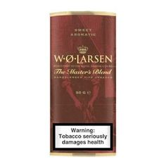 W.O. Larsen - Sweet Aromatic : hand picked mature Virginia, aged Burley, and mellow Black Cavendish added vanilla and fruity flavours for a sweet aroma.