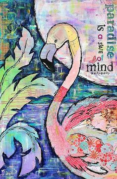Art of the Day Sunday August 18, 2013.  This week's theme is Collage.  Today's piece is Paradise Is... - by Melanie Douthit