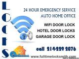 AUTO HOME OFFICE  Wi-Fi door lock  Hotel door locks  Garage door lock  214-229 2076.  www.fulltimelocksmith.com