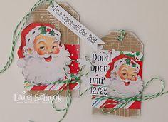 Cute vintage santa tags