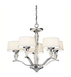 Kichler 42029ch Crystal Persuasion Chrome 17 Inch 5 Light Mini Chandelier