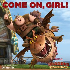 Not even Thor Bonecrusher can separate Fishlegs and his dragon. Who is your favorite dragon-rider pair? #DreamWorksDragons