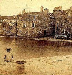 Roscoff, encore non défiguré par les comblements qui ont dissipé sa magie - Finistère - Bretagne: