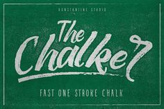 """Ad:  Chalk Font $15 A rough one stroke typeface with texture and chalk feels on it so you can get an """"auto-chalk"""" feel in instant moves.The Chalker Chalk lettering font by Konstantine Studio on @creativemarket"""