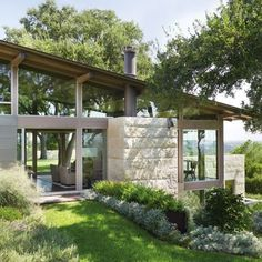 Lake | Flato Architects and Terry Hunziker Design a Hillside House in Austin, Texas : Architectural Digest