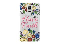 """Have Faith"" Inspirational Clear Phone Case"