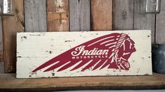 Indian Motorcycle Sign Wall Hanging Rustic Decor by ThePinkToolBox, $29.00 Old Motorcycles, Indian Motorcycles, Bobber Motorcycle, Girl Motorcycle, Motorcycle Quotes, Interior Design Shows, Before And After Diy, Motorcycle Companies, Bike Poster