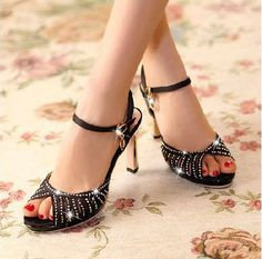 Find More Pumps Information about Free shipping New Brand women high square heel platform Pumps Rhinestone Hollow Genuine Leather shoes women pumps summer,High Quality women cross body bag,China women steel toe dress shoes Suppliers, Cheap shoes women loafers from Good-seller on Aliexpress.com