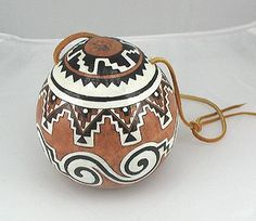 Native American Gourd Rattles | Anasazi Rattle Native American Apache Ceremonial Cynthia Whitehawk ...