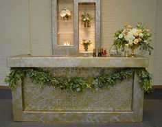 Mixed metal tone, geometric overlay bars. Available for RENTAL!
