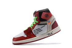 "46b5d482fdf 2018 Off-White x Air Jordan 1 ""RIA"" White Black-Varsity Red"