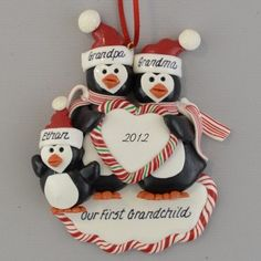 85d93bd60b23e First Grandchild Personalized Ornament. Calliope Designs · Grandparents  Christmas Ornaments