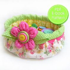 Download Button Basket Sewing Pattern | Featured Downloadable Sewing Patterns | YouCanMakeThis.com